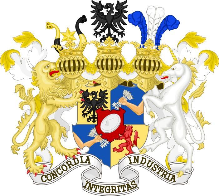 Blason des Rothschild - les 5 flèches symbolisent les 5 branches de la famille