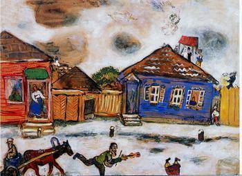 Le shtetl - Chagall