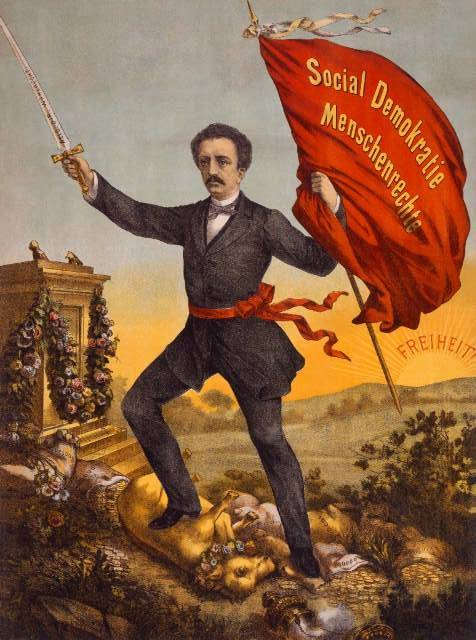 Ferdinand Lassalle, né le 11 avril 1825 à Breslau, mort le 31 août 1864 à Carouge (près de Genève); homme politique allemand d'origine juive, théoricien socialiste et écrivain