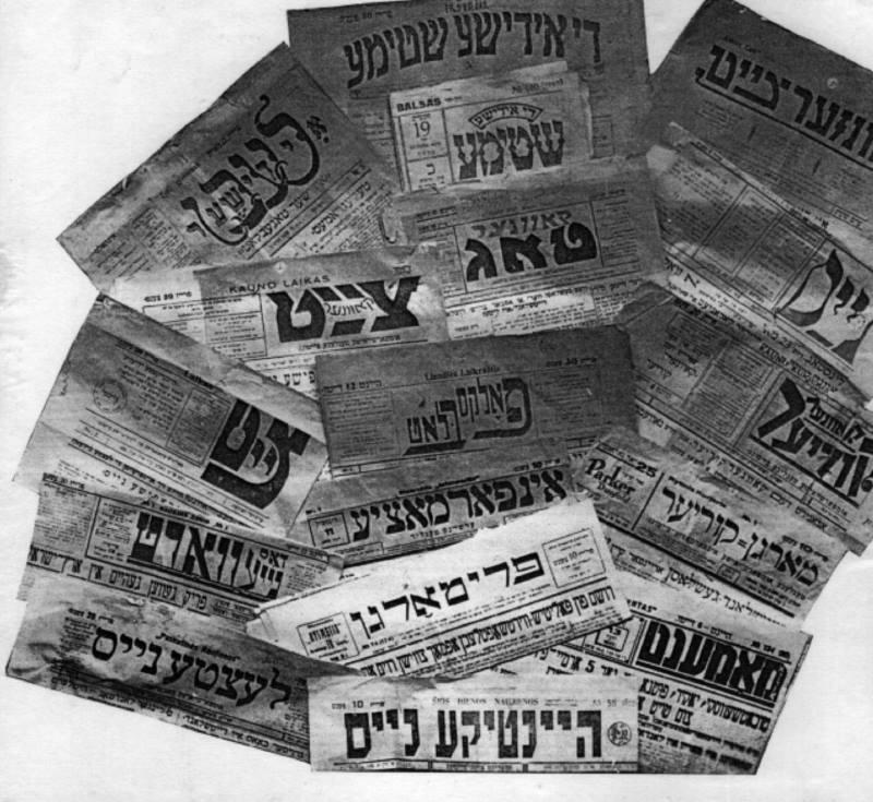 Quelques titres de journaux yiddish