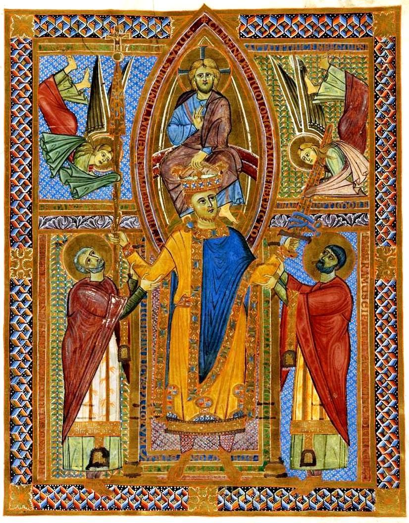 Couronnement d'Henri II, sacramentaire, Bibliothèque d'Etat de Bavière