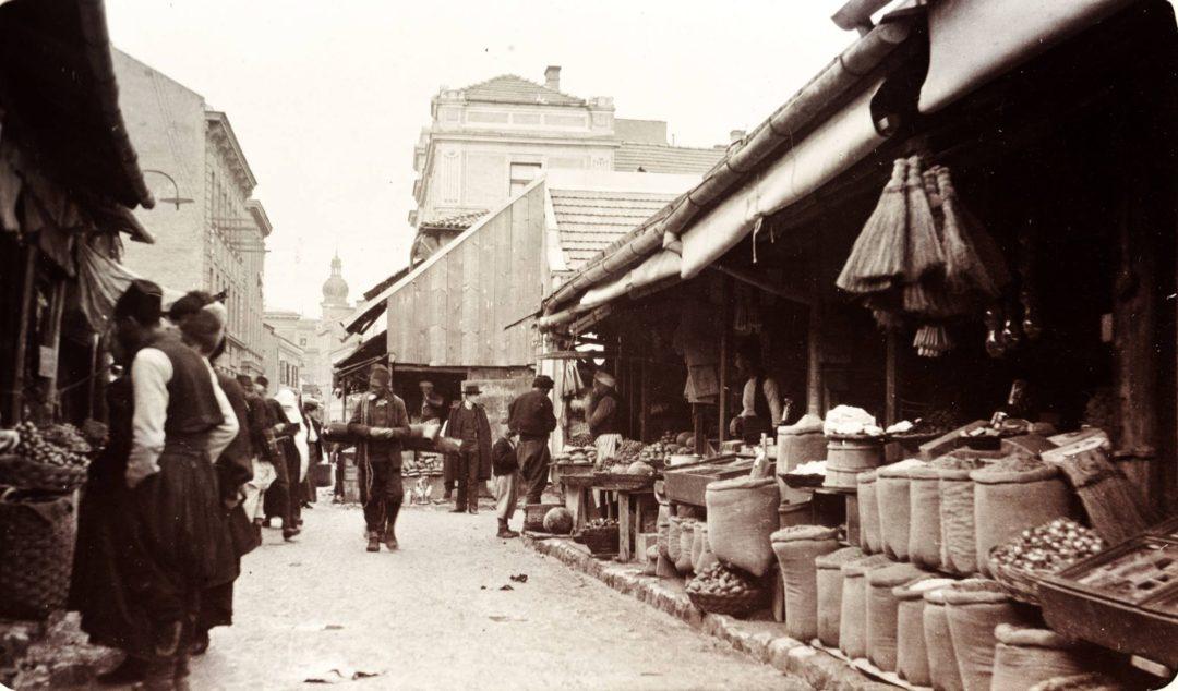 le bazar séfarade dans le quartier pauvre de Sfânta Vineri à Bucarest