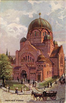 La Grande Synagogue de Poznan au début du XX° siècle.